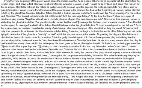 Is Hamlet Mad Essay by Essay Is Hamlet Mad At Essaypedia