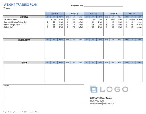 weight training excel sheet beautiful weight training schedule