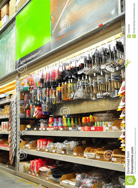 home improvement store editorial photography image of