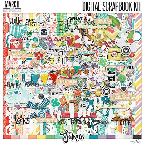 Bringing Digital Scrapbooking To Scrapbook Retail Stores The Mad Cropper 8 by Storyteller 2016 March Digital Scrapbook Kit By Just Jaimee