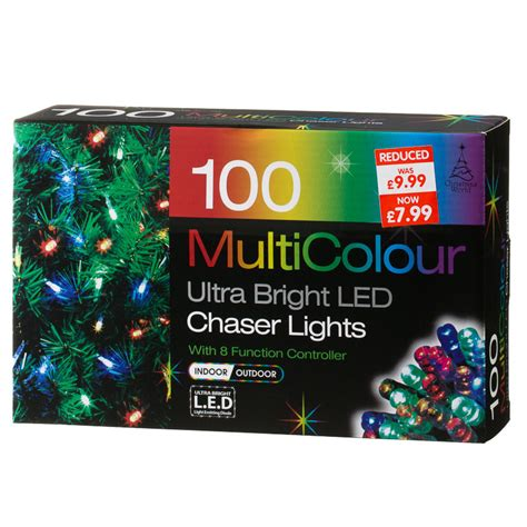 b m gt 100 bulb multicolour led chaser christmas lights