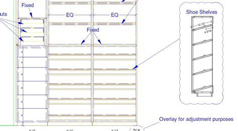 Shoe Shelf Plans pdf plans slanted shoe shelf plans plans building