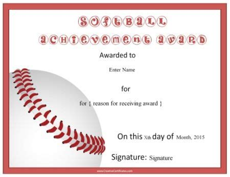 printable baseball gift certificates 8 best slopitch images on pinterest fastpitch softball