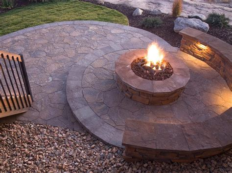 Patio With Firepit Pit Is A Accent For Your Backyard