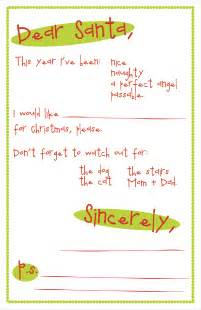 Free Santa Letter Template Printable Letter To Santa Printable Template Search Results