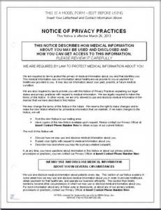 Notice Of Privacy Practices Template hitech compliant notice of privacy practices template