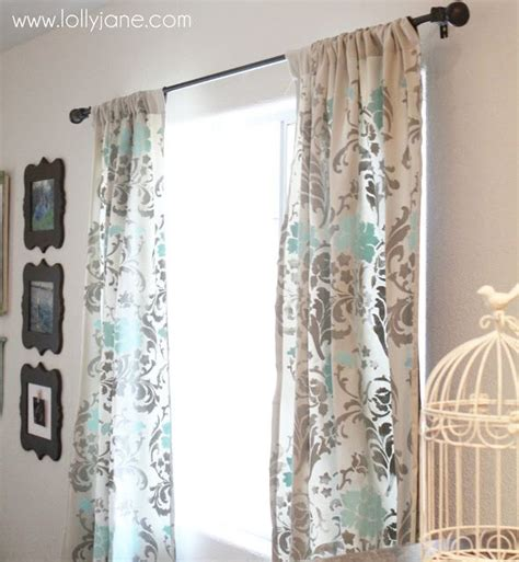 stenciled drop cloth curtains stenciled drop cloth curtains burlap drop cloth linen