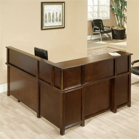 Reception Desks Ireland Kathy Ireland Home By Martin Tribeca Loft Cherry Rhf L Shaped Executive Desk With Reception
