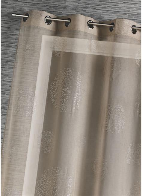 Rideau Voilage Taupe by Voilage En Etamine Impression Argent Taupe Corail