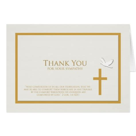 Thank You Letter Religious Sympathy Thank You Note Card Christian Zazzle