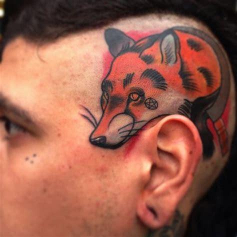 new school fox tattoo new school head fox tattoo by mike stocklings