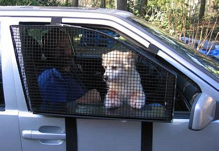 Car Window Covers For Dogs Breezeguard Car Window Cage Neatorama