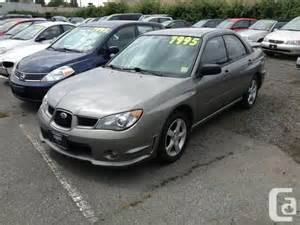 Subaru Impreza 2 5 I 2006 2006 Subaru Impreza 2 5i Sedan For Sale In Vancouver