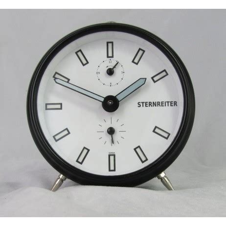 sternreiter contemporary design mechanical alarm clock mm