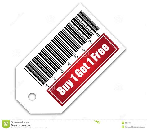 Get The 4 1 1 For Free by Barcode With Buy 1 Get 1 Free Stock Illustration Image