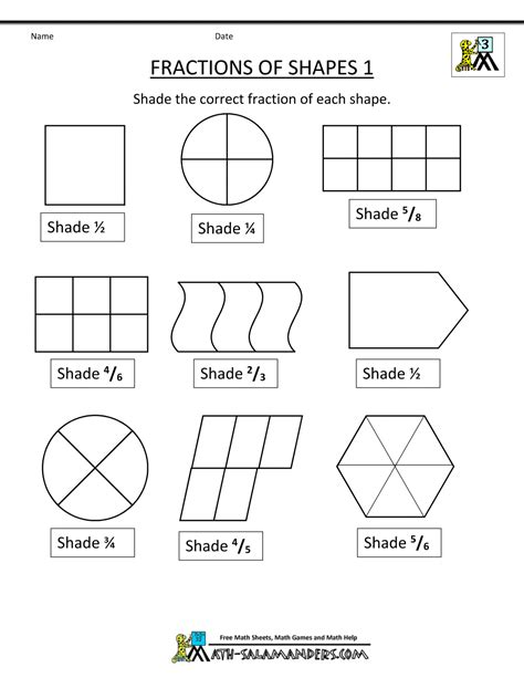 Easy Fraction Worksheets by Related Image Activities For Children