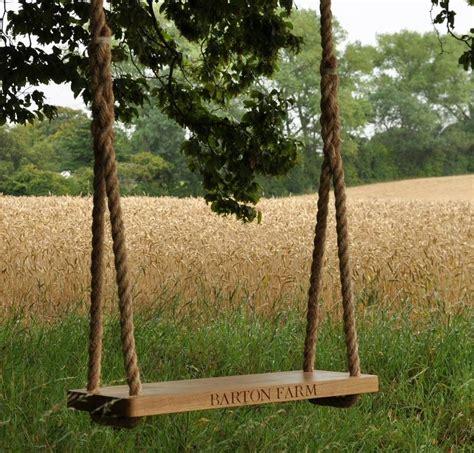 oak swings personalised large oak swing by the oak rope company