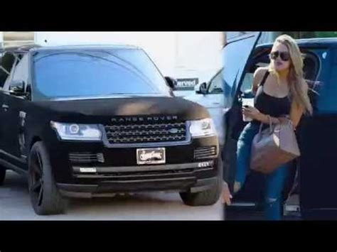 velvet car khloe khlo 233 rolls out in velvet range rover