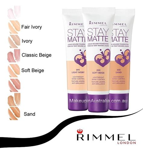 Rimmel Stay Matte Foundation makeup in australia au rimmel stay matte liquid