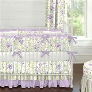 Home crib bedding purple heather floral crib bedding