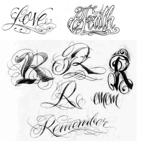 tattoos letras en letra gotica tipo de abecedario cursiva