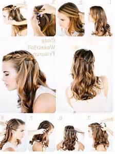 hochsteckfrisurenen zum selber machen halblanges haar frisuren f 252 r flechtfrisuren lange haare anleitung dies das