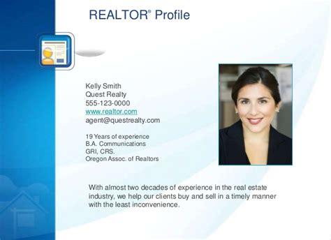 realtor listing presentation template listing presentation sle