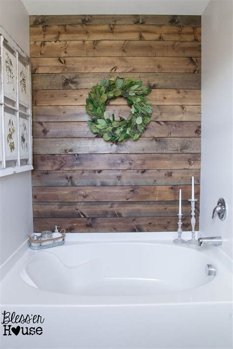 rustic bathroom wall decor hometalk diy rustic bathroom plank wall