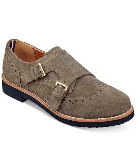 hilfiger oxford shoes hilfiger dilanee oxfords in brown lyst