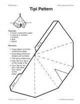Unit 2 American Romanticism Outline by Teepee Pattern Use The Printable Outline For Crafts Creating Stencils Scrapbooking And More