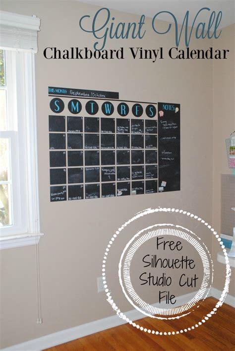 Calendar Vinyl Chalkboard Vinyl Wall Calendar Free Silhouette