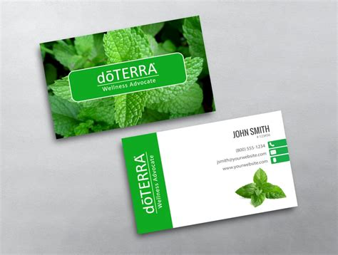 doterra business card template doterra business card 07
