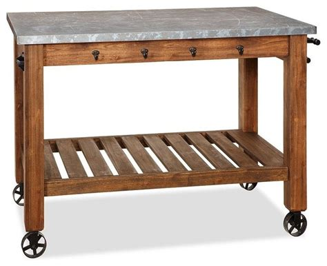Butcher Block Kitchen Island Cart Abbott Zinc Top Island Modern Kitchen Islands And