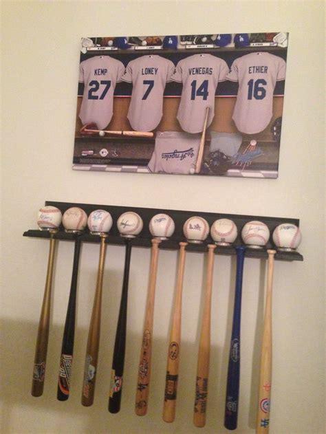 mini baseball bat rack woodworking