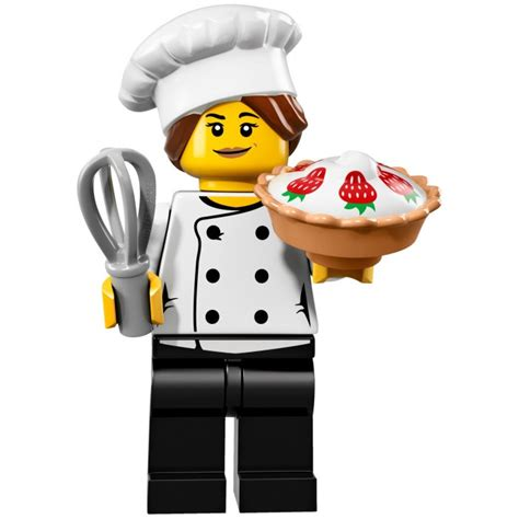 Lego Minifigures Series 17 Gourmet Chef Minifigure Seri 3 Pastry Pie Lego Gourmet Chef Set 71018 3 Brick Owl Lego Marketplace