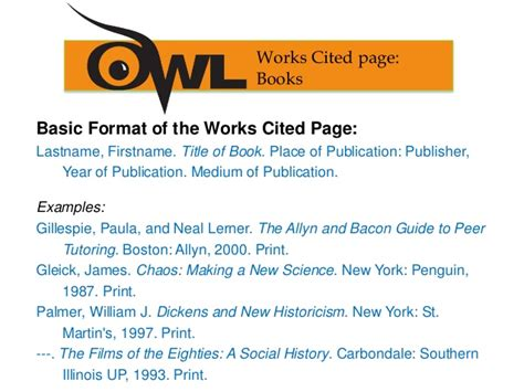 layout for work cited page mla works cited