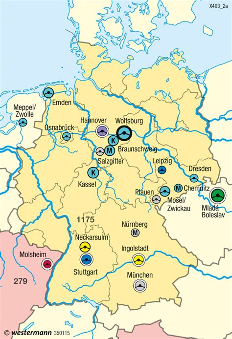 Audi Deutschland Standorte by Diercke Weltatlas Kartenansicht Global Player