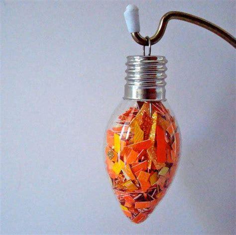 diy ornaments from light bulbs cardboard yarn ornaments lightbulbs confetti and ornament