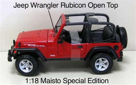 jeep wrangler open top jeep wrangler rubicon open top car die cast and