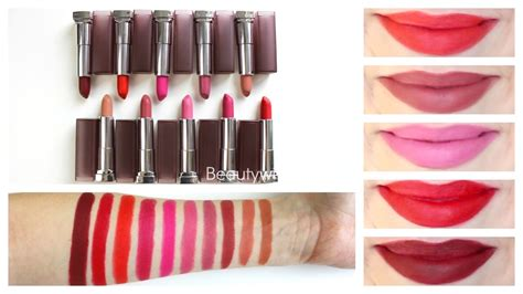 Maybelline Matte Lipstick maybelline matte lipstick review lip swatches
