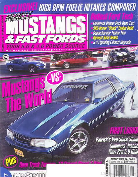mustangs and fast fords back issues backissues mustangs fast fords january 2001