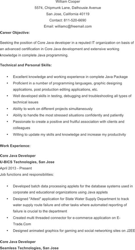 cv template java developer download java developer resume template for free