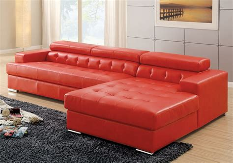 red bonded leather sofa tavius modern sofa sectional red bonded leather