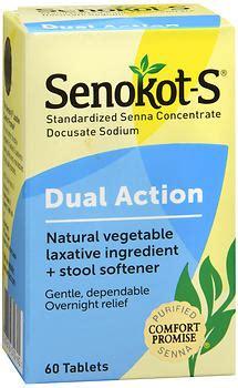 Senokot Stool Softener Dosage by Senokot S Vegetable Laxative Plus Stool Softener