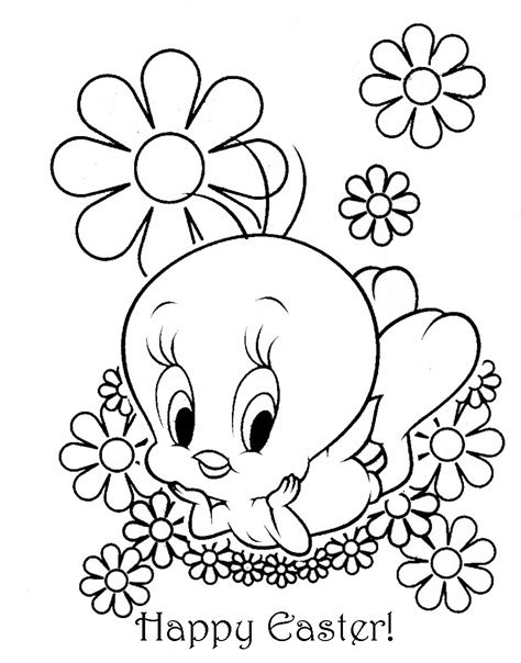 coloring pages easter easter colouring tweety pie easter coloring sheet
