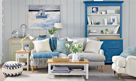 combination kitchen living room coastal decorating modern