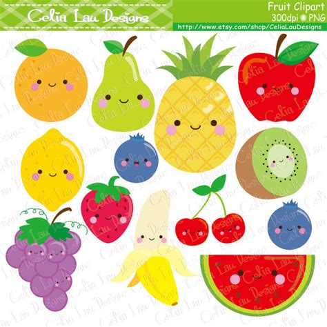 fruit clipart kawaii fruit clipart fruit clip food clipart