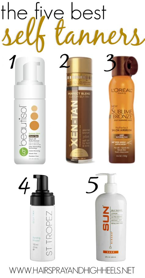 best self tanners the 5 best self tanners hairspray and highheels