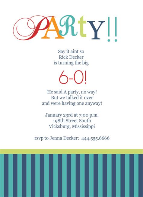 60th Birthday Invitation Templates free birthday and anniversary calendar template new