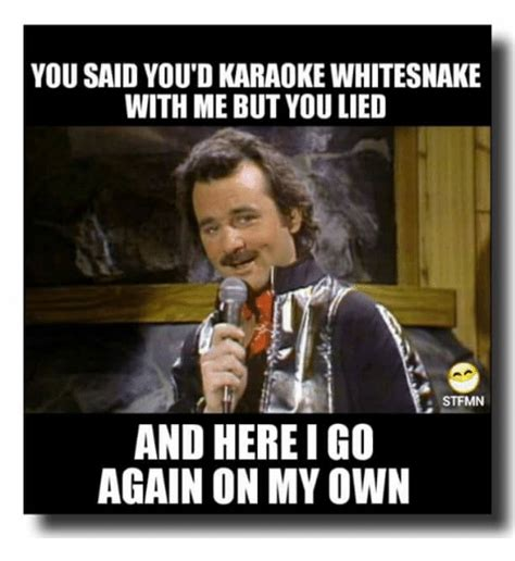 Funny Karaoke Meme - you said youdkaraoke whitesnake with me but you lied st
